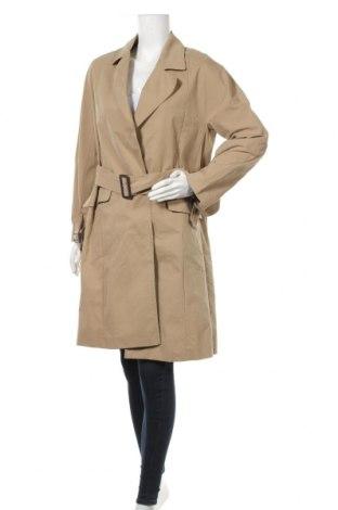 Дамски шлифер Zara, Размер S, Цвят Бежов, 52% полиестер, 48% вискоза, Цена 54,00лв.