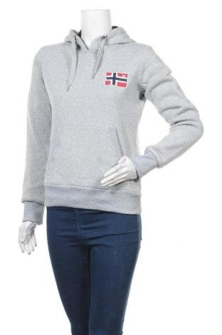 Дамски суичър Geographical Norway, Размер M, Цвят Сив, Полиестер, Цена 37,92лв.