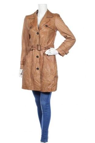 Дамско кожено палто, Размер M, Цвят Кафяв, Естествена кожа, Цена 103,74лв.