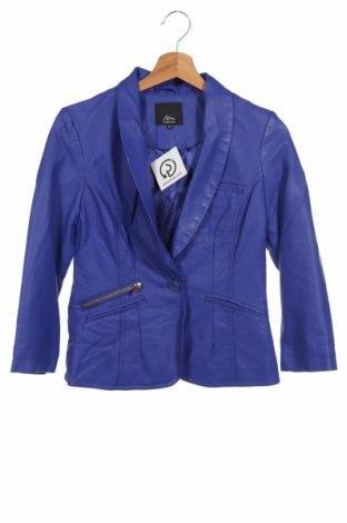 Дамско кожено сако Ann Christine, Размер XS, Цвят Син, Еко кожа, Цена 14,00лв.