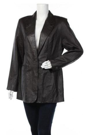 Дамско кожено сако Denim&Co., Размер L, Цвят Кафяв, Естествена кожа, Цена 81,90лв.
