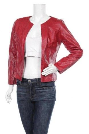 Дамско кожено яке, Размер M, Цвят Червен, Еко кожа, Цена 20,59лв.