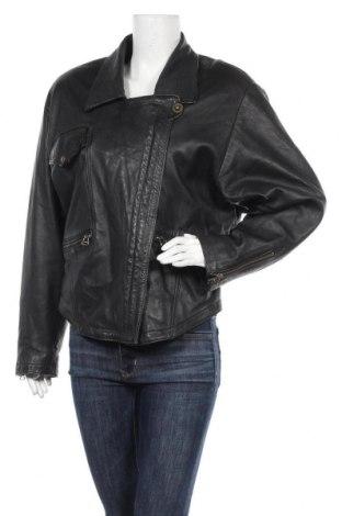 Дамско кожено яке, Размер L, Цвят Черен, Естествена кожа, Цена 74,55лв.