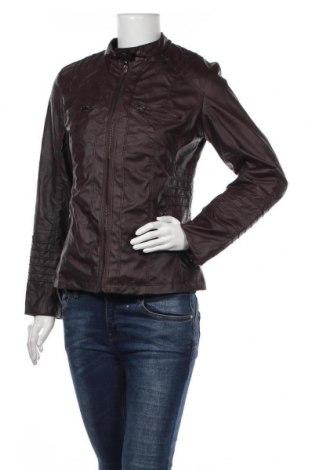Дамско кожено яке, Размер M, Цвят Кафяв, Еко кожа, Цена 10,76лв.