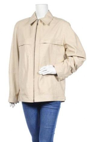Дамско кожено яке, Размер XL, Цвят Бежов, Естествена кожа, Цена 76,81лв.