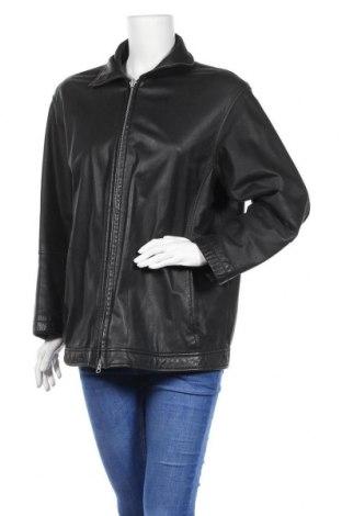 Дамско кожено яке, Размер L, Цвят Черен, Естествена кожа, Цена 39,69лв.