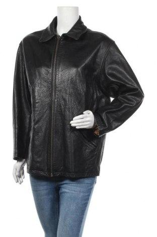 Дамско кожено яке Leonardo, Размер L, Цвят Черен, Естествена кожа, Цена 43,05лв.