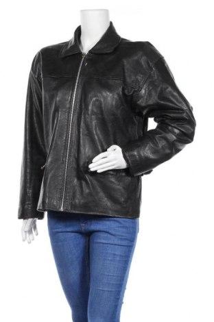 Дамско кожено яке, Размер L, Цвят Черен, Естествена кожа, Цена 16,42лв.