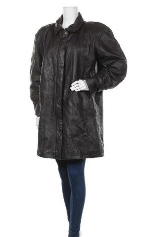 Дамско кожено яке, Размер XL, Цвят Сив, Естествена кожа, Цена 22,05лв.