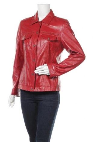Дамско кожено яке, Размер M, Цвят Червен, Естествена кожа, Цена 68,04лв.
