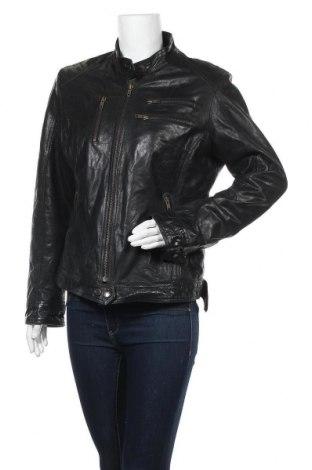 Γυναικείο δερμάτινο μπουφάν, Μέγεθος L, Χρώμα Μαύρο, Γνήσιο δέρμα, Τιμή 21,63€