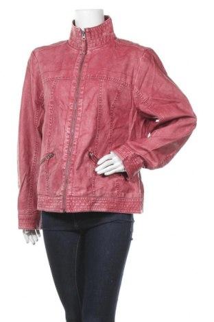 Дамско кожено яке, Размер XL, Цвят Розов, Еко кожа, Цена 36,96лв.