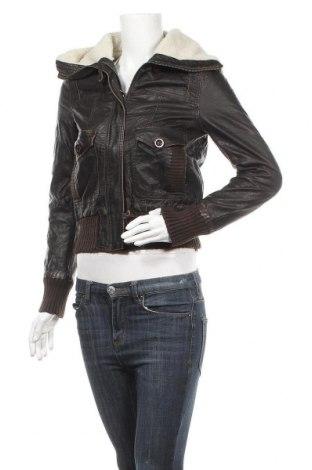 Дамско кожено яке Atmosphere, Размер XS, Цвят Черен, Еко кожа, Цена 18,27лв.