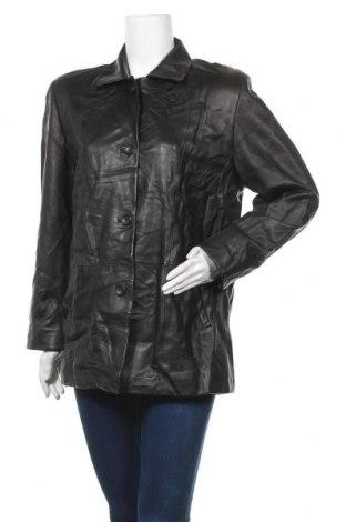 Дамско кожено яке Cabrini, Размер L, Цвят Черен, Естествена кожа, Цена 21,79лв.