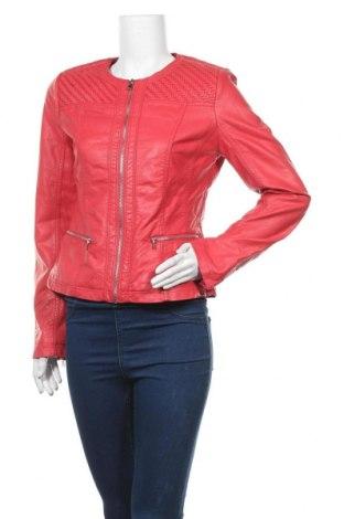 Дамско кожено яке Escandelle, Размер L, Цвят Червен, Еко кожа, Цена 25,60лв.