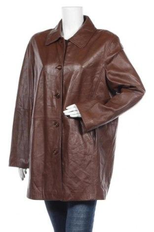 Дамско кожено яке Forever, Размер XL, Цвят Кафяв, Естествена кожа, Цена 39,06лв.