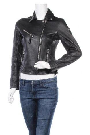 Дамско кожено яке Gipsy, Размер XS, Цвят Черен, Естествена кожа, Цена 262,07лв.