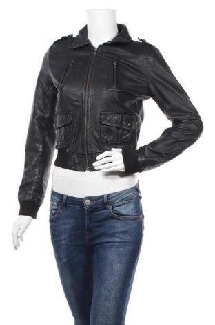 Γυναικείο δερμάτινο μπουφάν H&M, Μέγεθος S, Χρώμα Μαύρο, Γνήσιο δέρμα, Τιμή 46,18€