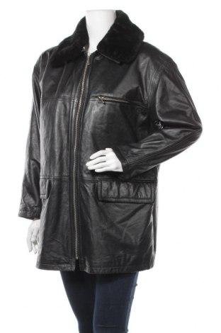 Дамско кожено яке Hm-Moden, Размер L, Цвят Черен, Естествена кожа, Цена 24,99лв.