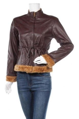 Дамско кожено яке Last Woman, Размер M, Цвят Кафяв, Еко кожа, Цена 7,14лв.