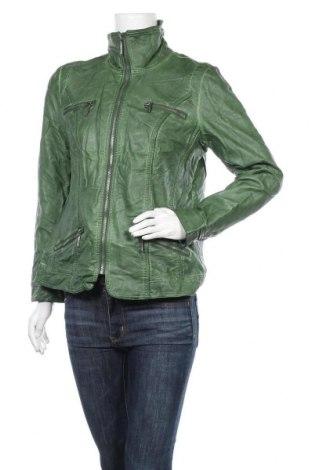 Дамско кожено яке Mainpol, Размер L, Цвят Зелен, Еко кожа, Цена 50,40лв.