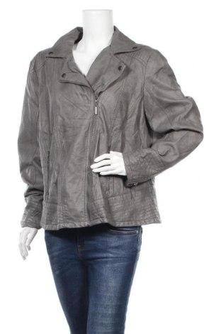 Γυναικείο δερμάτινο μπουφάν Maxi Blue, Μέγεθος 3XL, Χρώμα Γκρί, Δερματίνη, Τιμή 27,28€