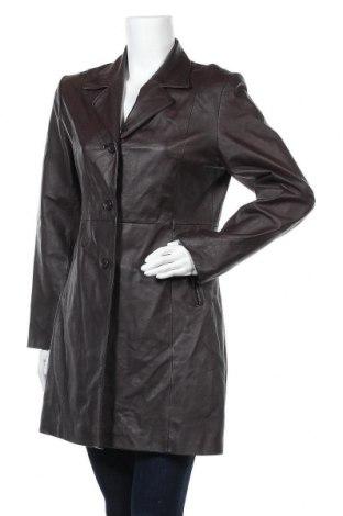 Дамско кожено яке Montgomery, Размер M, Цвят Кафяв, Естествена кожа, Цена 29,40лв.