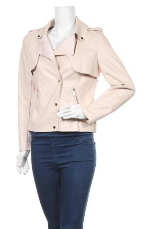 Γυναικείο δερμάτινο μπουφάν My Hailys, Μέγεθος M, Χρώμα Ρόζ , Δερματίνη, Τιμή 14,09€