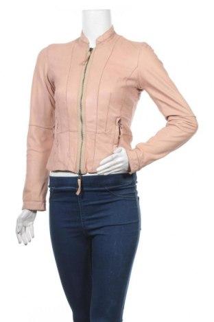 Дамско кожено яке Oakwood, Размер XS, Цвят Розов, Естествена кожа, Цена 86,73лв.