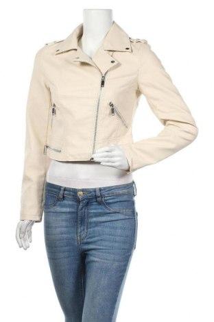 Дамско кожено яке Reserved, Размер S, Цвят Бежов, Еко кожа, Цена 34,65лв.