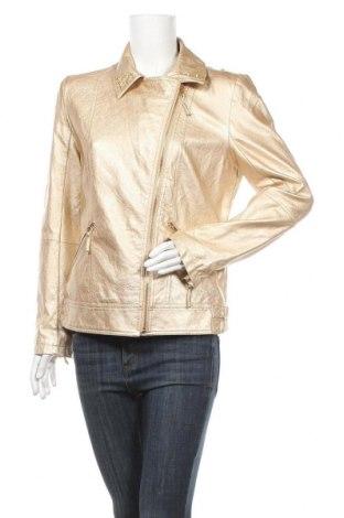 Дамско кожено яке Sarah Kern, Размер M, Цвят Златист, Еко кожа, Цена 23,94лв.