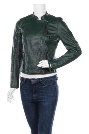 Γυναικείο δερμάτινο μπουφάν Vero Moda, Μέγεθος S, Χρώμα Πράσινο, Δερματίνη, Τιμή 19,55€