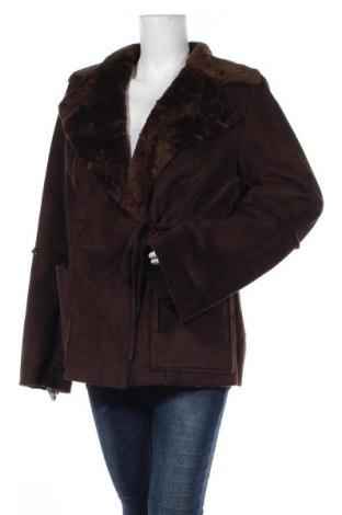 Γυναικείο παλτό, Μέγεθος L, Χρώμα Καφέ, Πολυεστέρας, Τιμή 5,76€