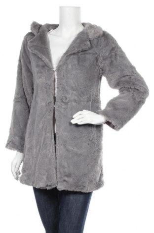Дамско палто, Размер M, Цвят Сив, Полиестер, Цена 20,79лв.