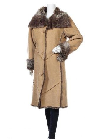 Дамско палто, Размер M, Цвят Бежов, 50% полиестер, 50% акрил, Цена 15,49лв.