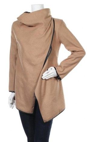 Дамско палто, Размер M, Цвят Бежов, 55% памук, 45% полиестер, Цена 9,98лв.