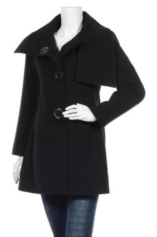 Дамско палто, Размер L, Цвят Черен, Вълна, Цена 48,30лв.