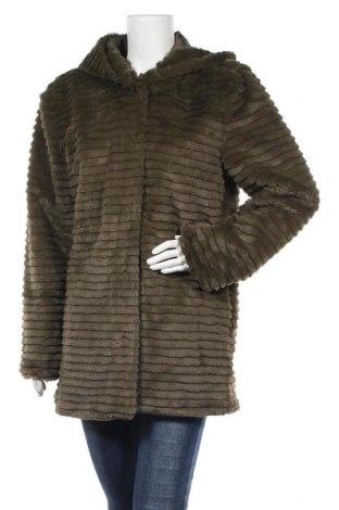 Дамско палто Aniston, Размер L, Цвят Зелен, Полиестер, Цена 40,60лв.