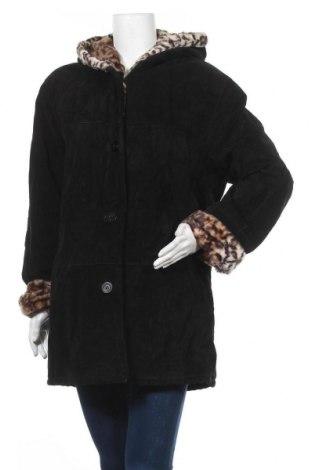Дамско палто 7 Eleven, Размер L, Цвят Черен, Естествен велур, Цена 94,82лв.