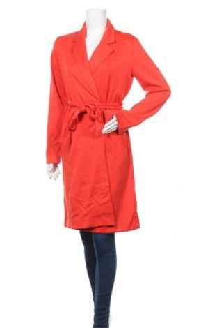 Дамско палто Amisu, Размер M, Цвят Червен, 68% полиестер, 27% вискоза, 5% еластан, Цена 47,88лв.