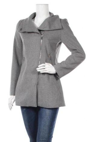 Дамско палто Bershka, Размер M, Цвят Сив, 75% полиестер, 11% вълна, 7% акрил, 7% други нишки, Цена 47,88лв.