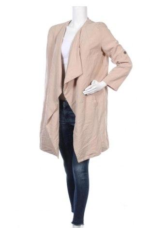 Дамско палто Bershka, Размер M, Цвят Бежов, Цена 17,33лв.