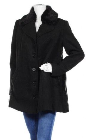 Дамско палто Bpc Bonprix Collection, Размер L, Цвят Черен, 88% полиестер, 10% вискоза, 2% еластан, Цена 18,00лв.