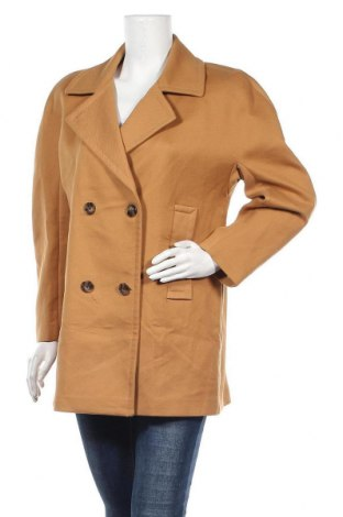 Дамско палто Caroll, Размер XL, Цвят Кафяв, Памук, Цена 107,60лв.