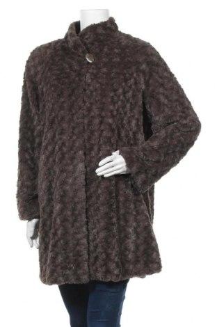 Дамско палто Dennis Basso, Размер L, Цвят Кафяв, Полиестер, Цена 20,16лв.