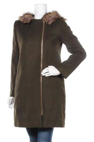 Дамско палто Dewberry, Размер XL, Цвят Зелен, 69% полиестер, 30% вискоза, 1% еластан, Цена 71,55лв.