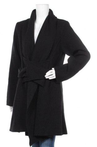Дамско палто Eva Tralala, Размер M, Цвят Черен, Вълна, Цена 129,00лв.