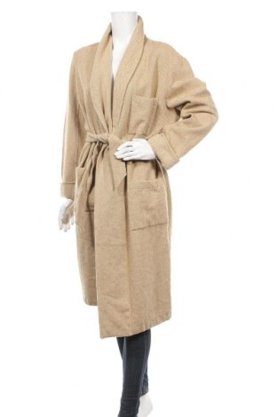 Дамско палто Grigio Perla, Размер XL, Цвят Бежов, Вълна, Цена 89,78лв.