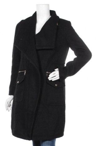 Дамско палто Guess, Размер S, Цвят Черен, 60% полиестер, 40% вълна, Цена 314,25лв.