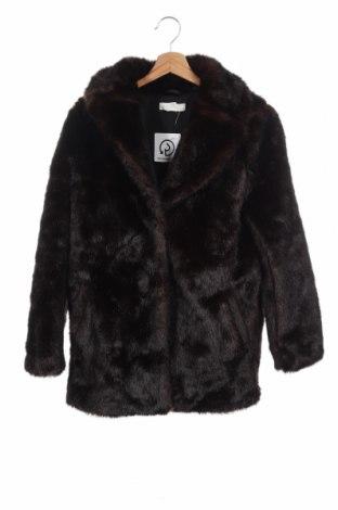 Дамско палто H&M, Размер XS, Цвят Кафяв, 76% акрил, 24% полиестер, Цена 47,88лв.